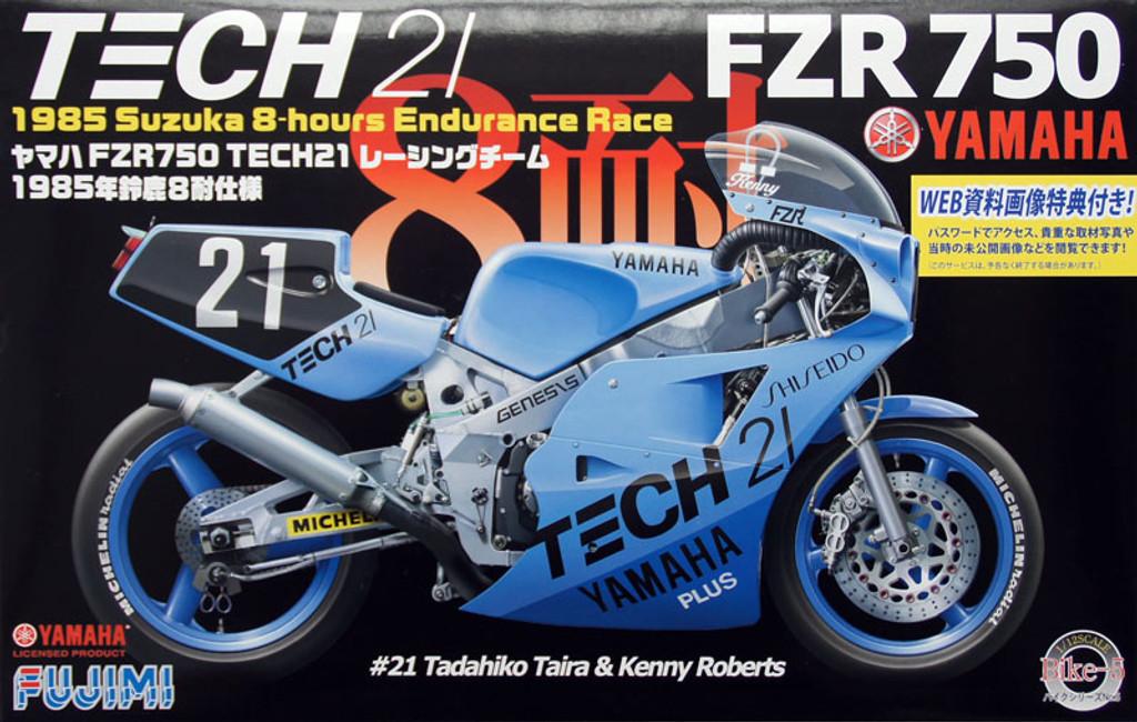 Fujimi Bike-05 Yamaha FZR750 TECH21 Racing Team Suzuka 1985 1/12 Scale Kit