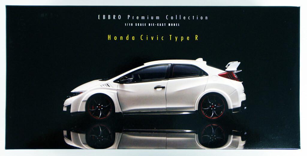 Ebbro 81066 Honda CIVIC TYPE R 2015 (Japanese License Plate) Championship White 1/18 scale
