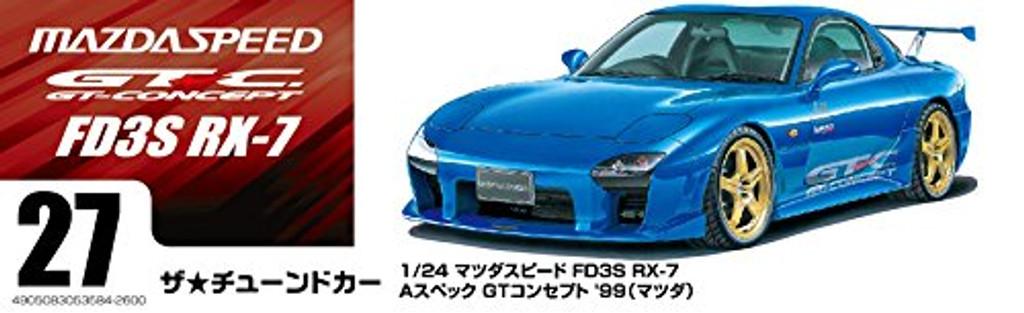 Aoshima 53584 MAZDASPEED FD3S RX-7 A-SPEC GT-C '99 (MAZDA) 1/24 scale kit