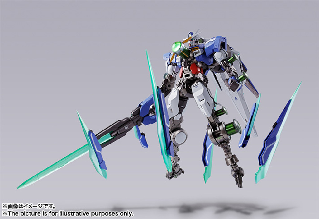 Bandai METAL BUILD GNT-0000 00 Qan[T] Figure (Gundam 00)