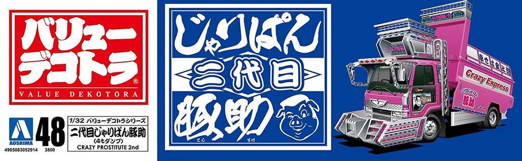 Aoshima 52914 2nd Generation Jaripan Tonsuke (4t Deep Dump) 1/32 Scale Kit
