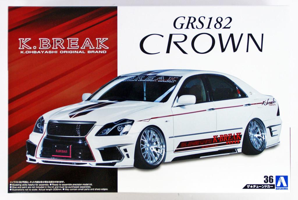 Aoshima 54246 K-BREAK HYPER ZERO CUSTOM GRS182 CROWN '03(TOYOTA) 1/24 scale kit