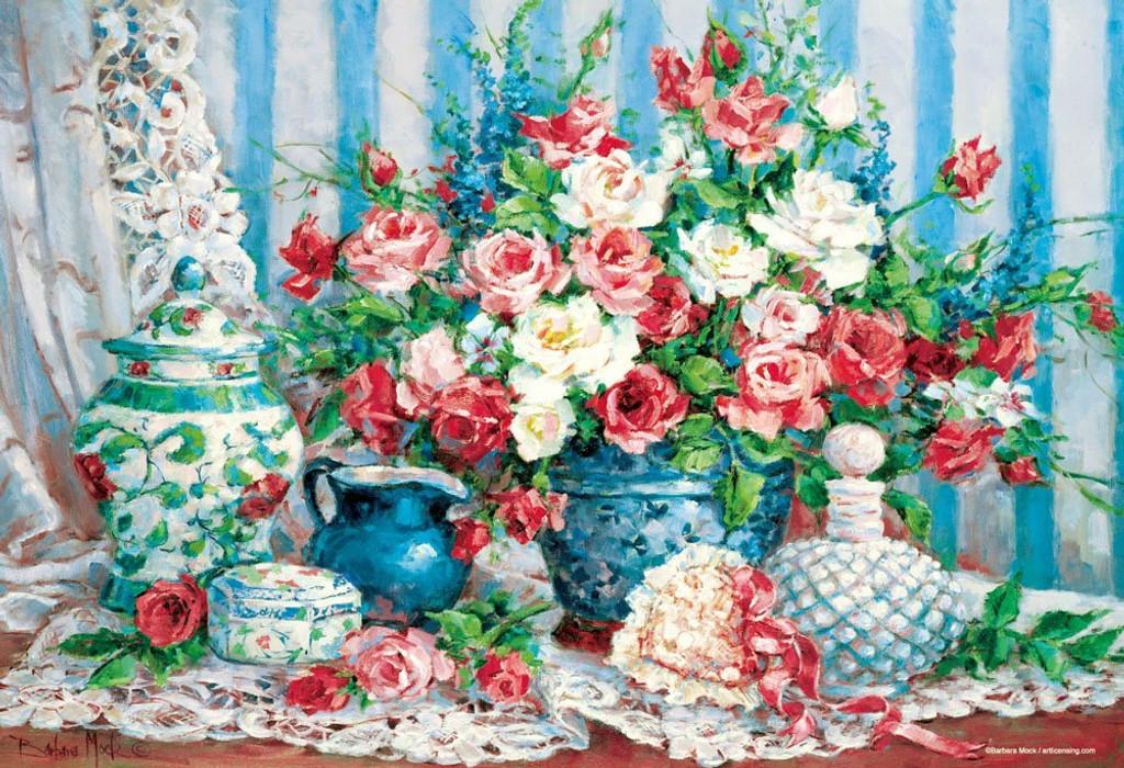 Beverly Jigsaw Puzzle M81-554 Barbara Mock Rose & Romance (1000 S-Pieces)