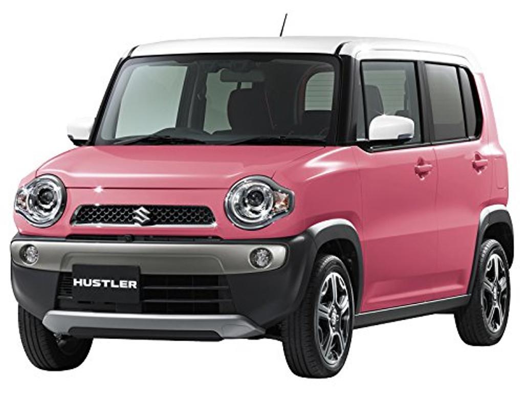 Aoshima 54154 Suzuki Hustler (Candy Pink Metalic) 1/32 scale pre-painted model kit