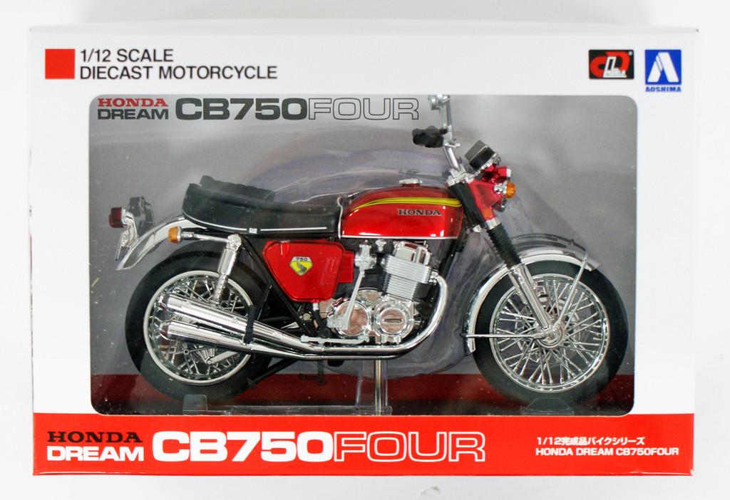 Aoshima Skynet 04323 Honda CB750FOUR (K0) Candy Red 1/12 Scale Finished Model