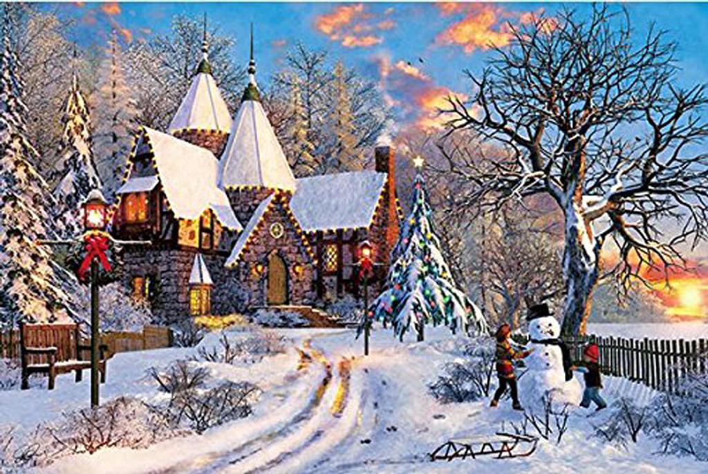 APPLEONE Jigsaw Puzzle 300-333 Dominic Davison Merry Winter (300 Pieces)