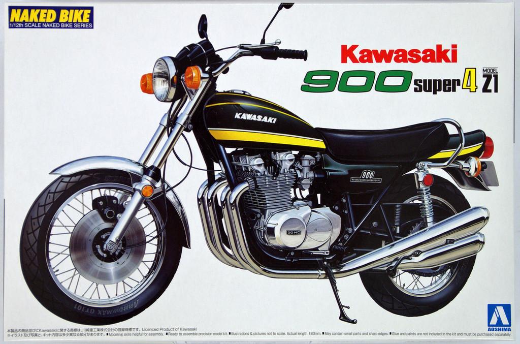 Aoshima Naked Bike 12 40980 Kawasaki 900 Super 4 Z1 1/12 Scale Kit