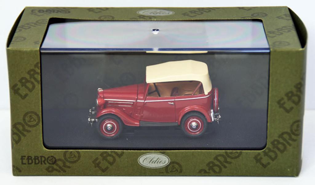 Ebbro 44353 Datsun 17 Phaeton 1938 (Red) 1/43 Scale