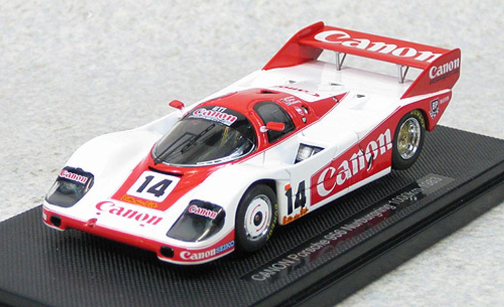 Ebbro 44360 Canon Porsche 956 1983 Nurburgring 1000km (White/Red) 1/43 Scale