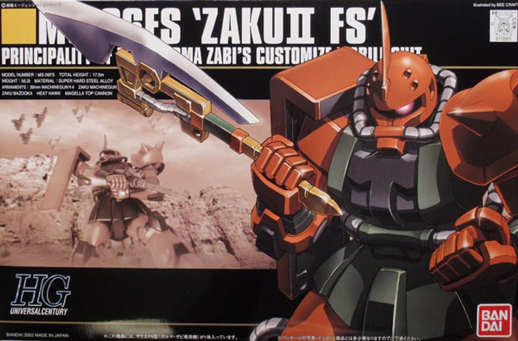 Bandai HGUC 034 Gundam MS-06FS ZAKU II FS 1/144 Scale Kit