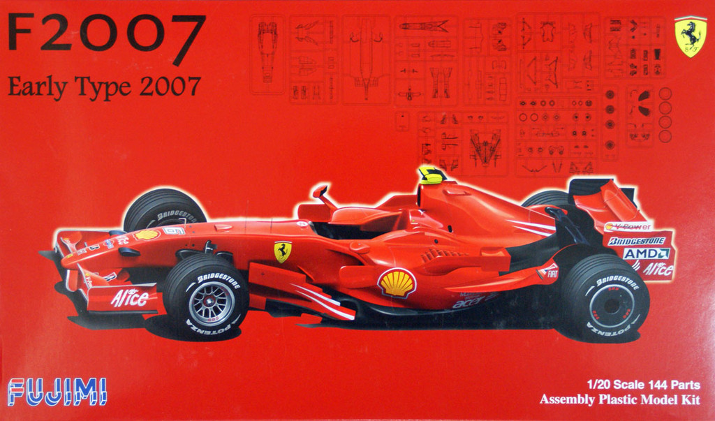 Fujimi GP42 091006 F1 Ferrari F2007 Early Type Australia GP 1/20 Scale Kit
