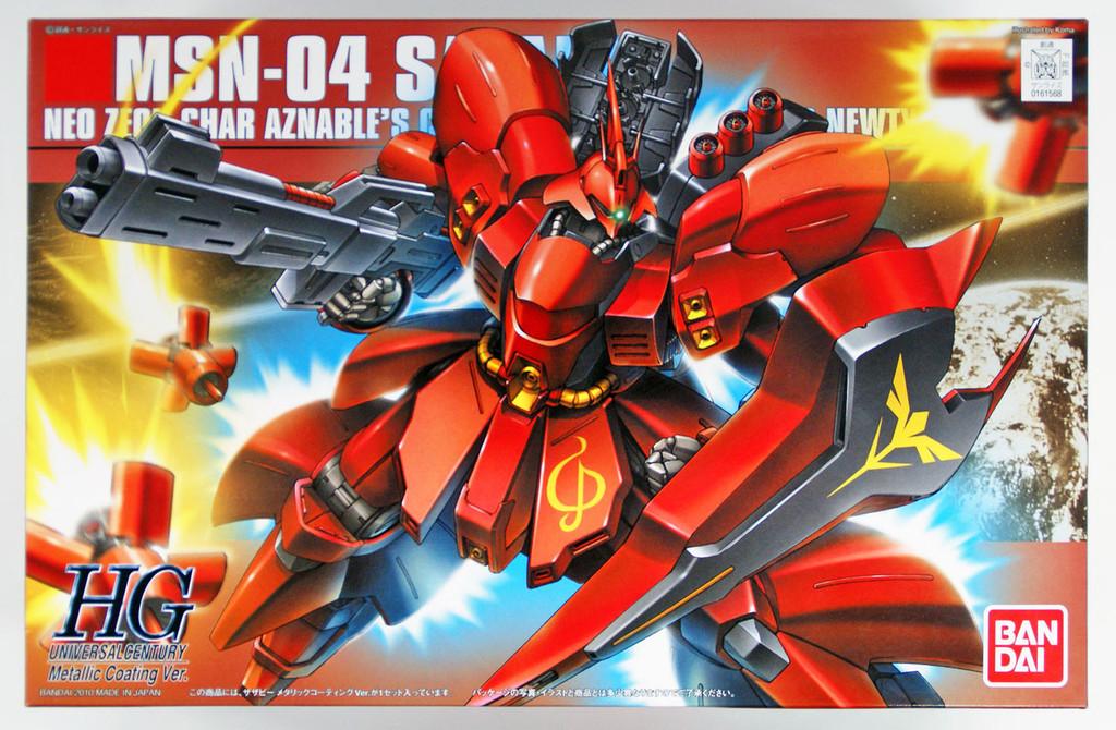 Bandai 615688 GUNDAM MSN-04 Sazabi Metallic Coating Version 1/144  Scale Kit
