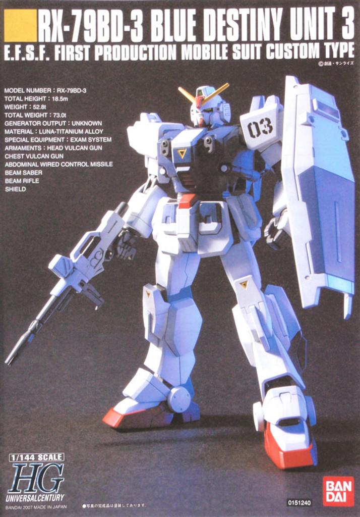 Bandai HGUC 082 Gundam RX-79BD-3 BLUE DESTINY 1/144 Scale Kit