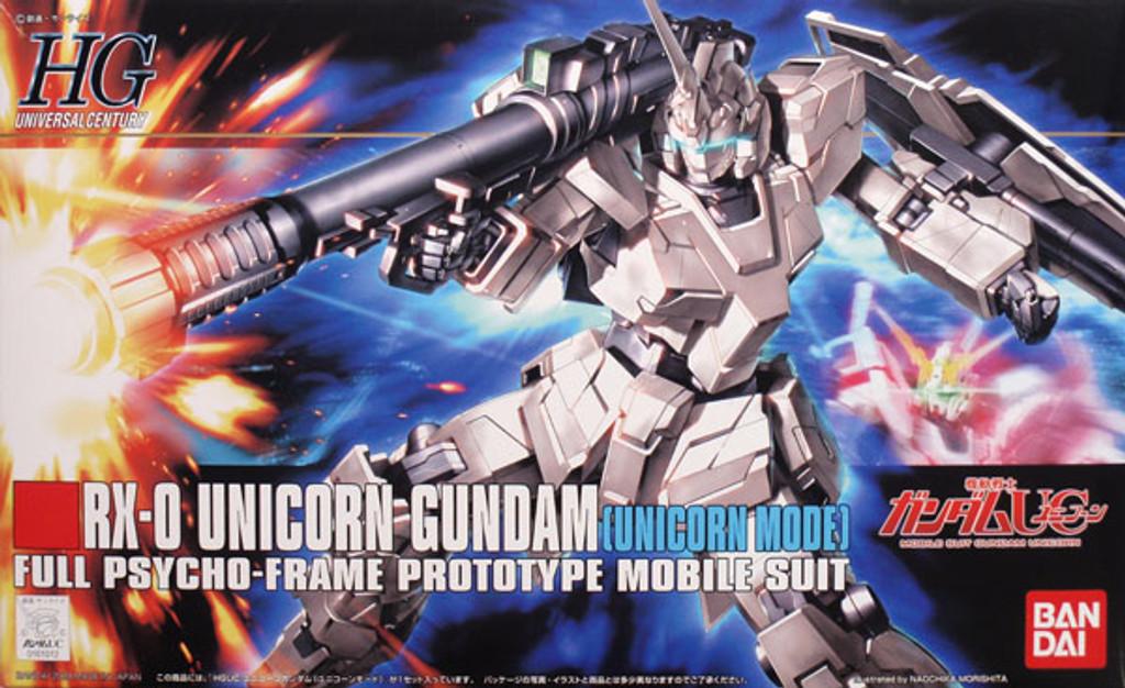 Bandai HGUC 101 Gundam RX-0 UNICORN Gundam 1/144 Scale Kit