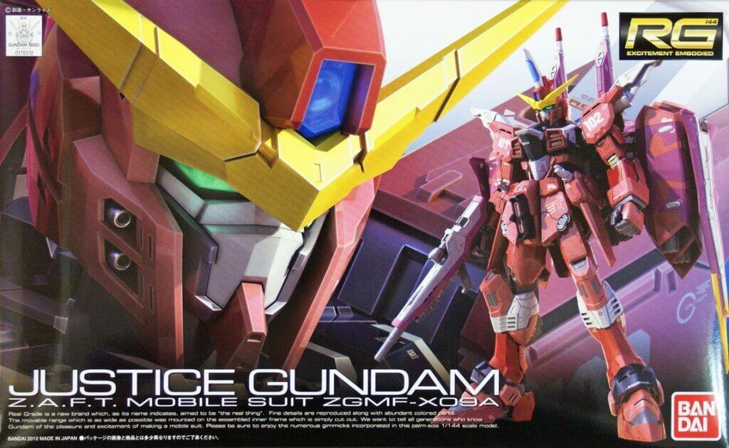 Bandai RG 09 Justice Gundam Z.A.F.T. Mobile Suit ZGMF-X09A 1/144 Scale Kit