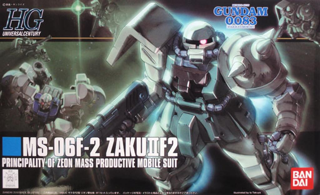 Bandai HGUC 105 Gundam MS-06F-2 ZAKU II F2 1/144 Scale Kit