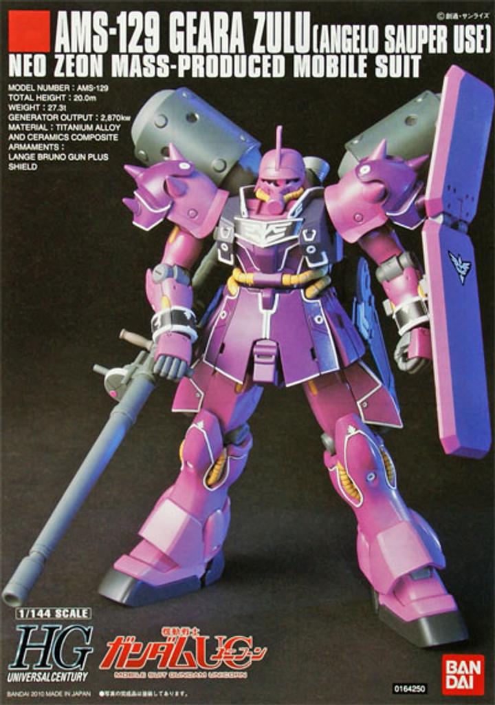 Bandai HGUC 112 Gundam AMS-129 GEARA ZULU 1/144 Scale Kit