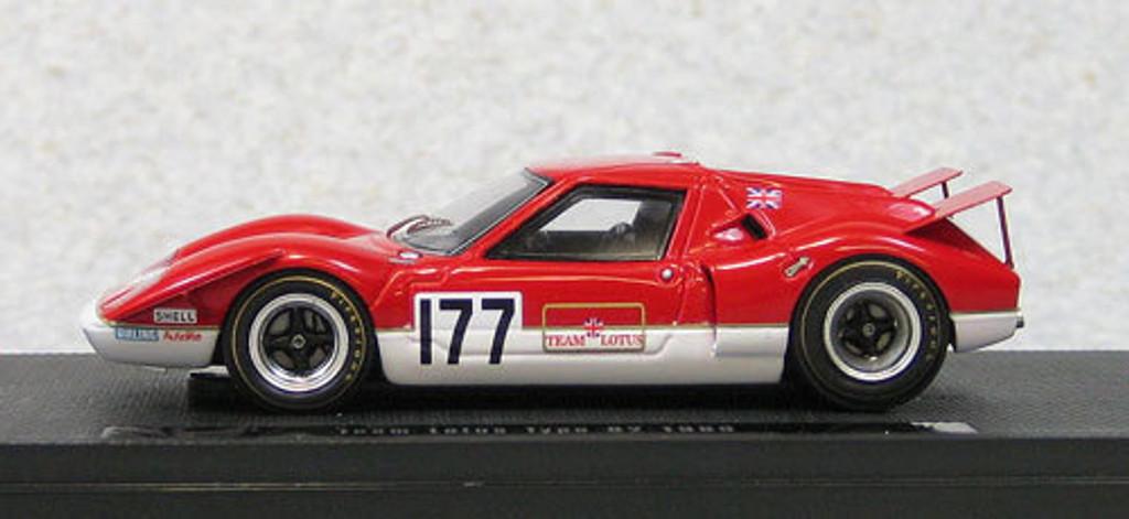 Ebbro 44569 Team Lotus Type 62 1969 Red (Resin Model) 1/43 Scale