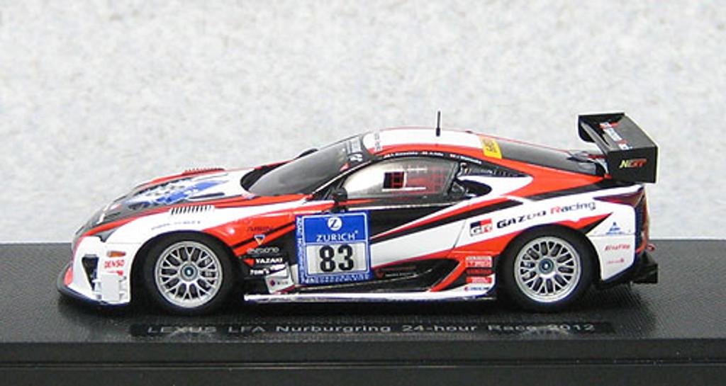 Ebbro 44890 Lexus LFA Nurburgring 24hr Race 2012 #83 (Resin Model) 1/43 Scale