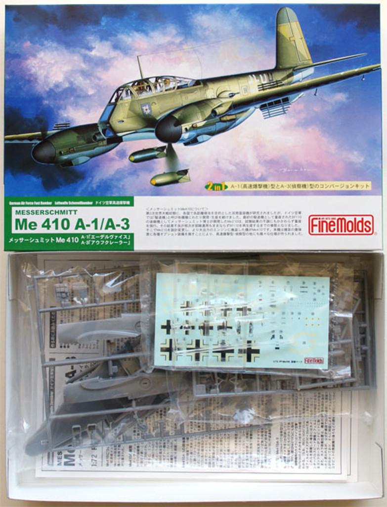 Fine Molds FL3 German Messerschmitt Me 410 A-1/A-3 1/72 Scale Kit
