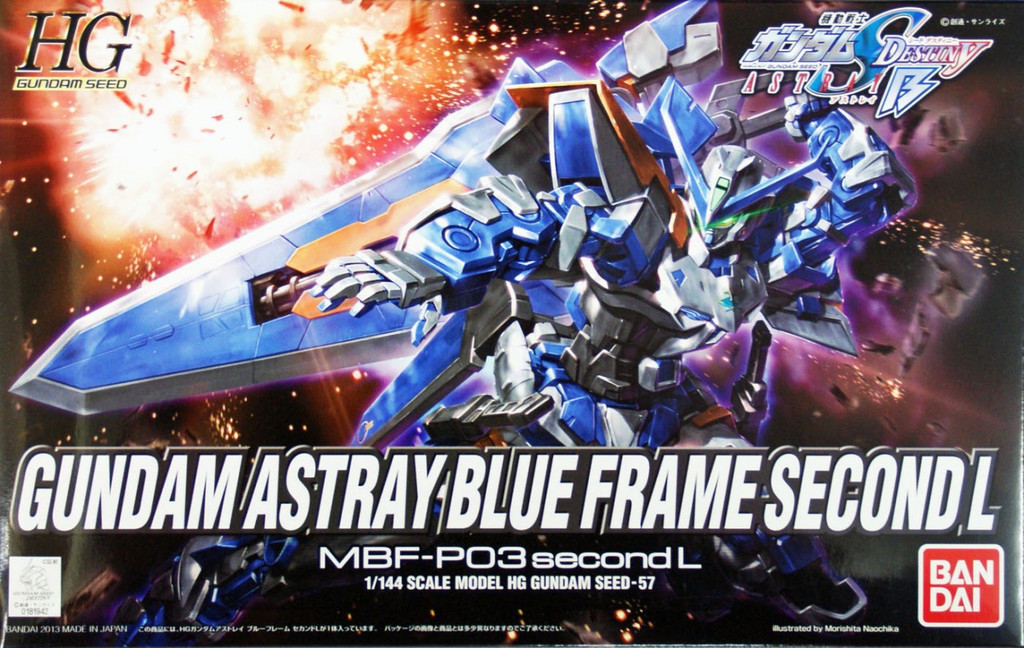 Bandai 819420 HG Gundam Seed Gundam Astray Blue Frame Second L 1/144 Scale Kit