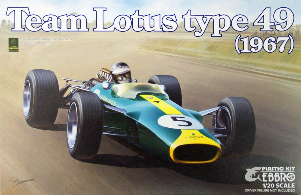 Ebbro 20004 Team Lotus type 49 (1967) 1/20 Scale plastic model Kit