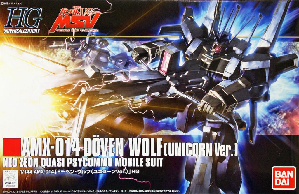 Bandai HGUC 160 Gundam AMX-014 DOVEN WOLF (UNICORN Version) 1/144 Scale Kit