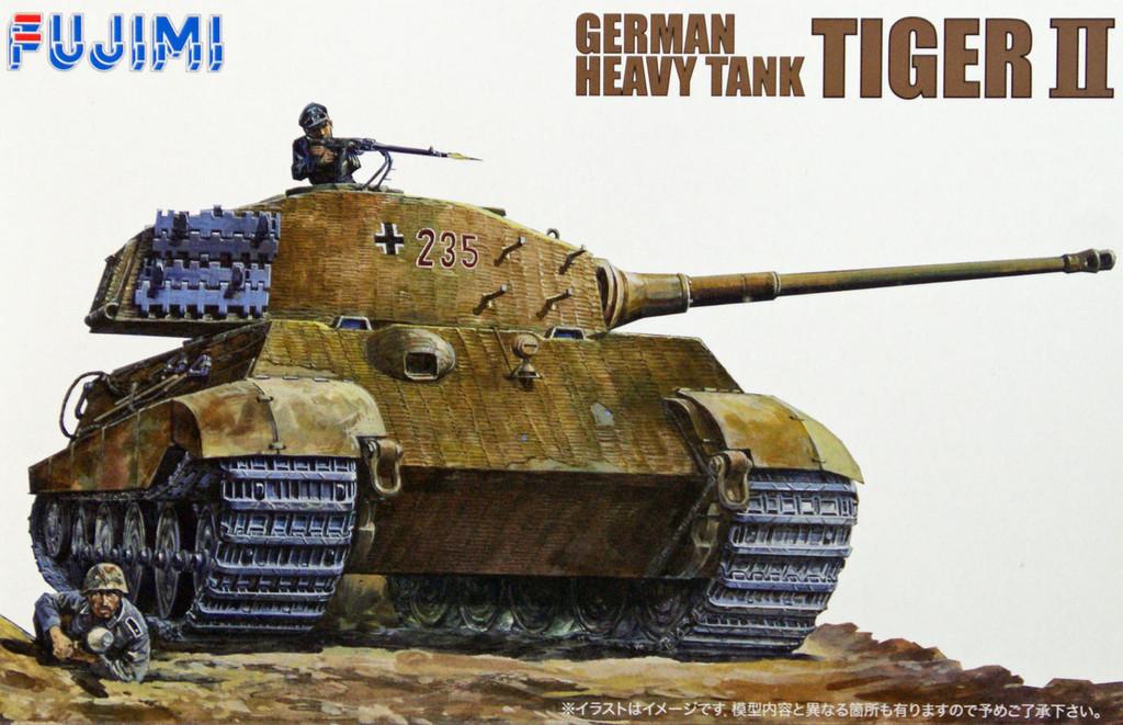 Fujimi WA01 World Armor German Heavy Tank Tiger II 1/76 Scale Kit