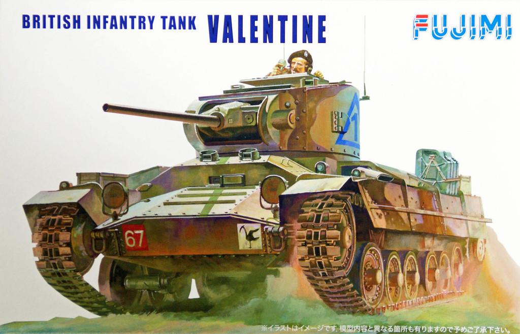 Fujimi WA07 World Armor British Infantry Tank Valentine 1/76 Scale Kit