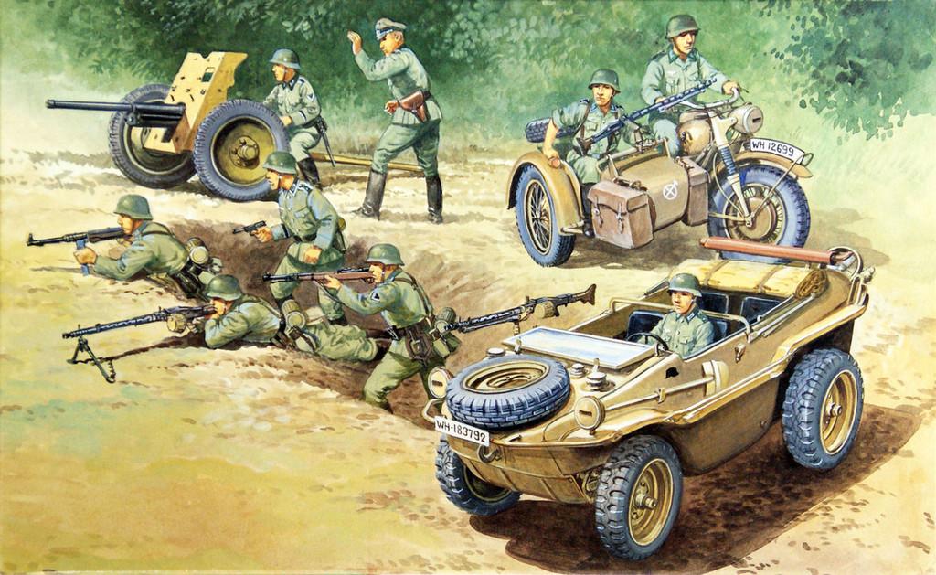 Fujimi SWA16 Special World Armor Schwimm Wagen 1/76 Scale Kit