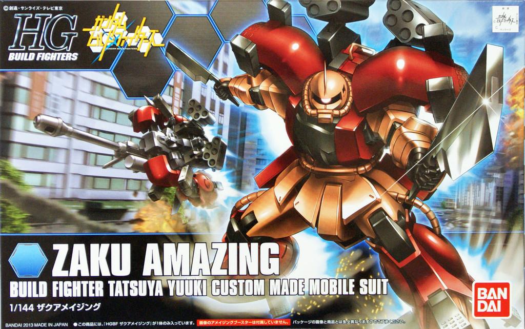 Bandai HG Build Fighters 002 ZAKU AMAZING 1/144 Scale Kit