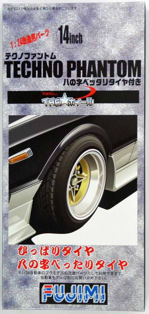 Fujimi TW69 Techno Phantom Wheel & Tire Set 14 inch 1/24 Scale Kit