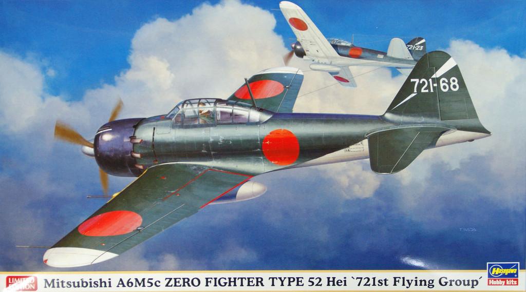 Hasegawa 07362 Mitsubishi A6M5c Zero Fighter Type 52 Hei 721st Flying Group 1/48 Scale Kit