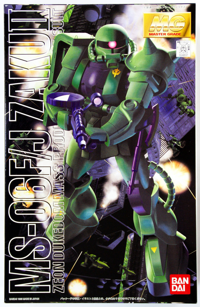 Bandai MG 485171 Gundam MS-06 F/J Zaku II 1/100 Scale Kit
