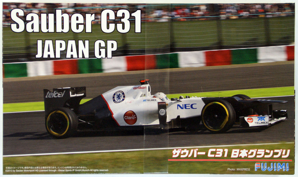 Fujimi GP SP29 F1 Sauber C31 Japan GP with 1/8 Scale Helmet 1/20 Scale Kit