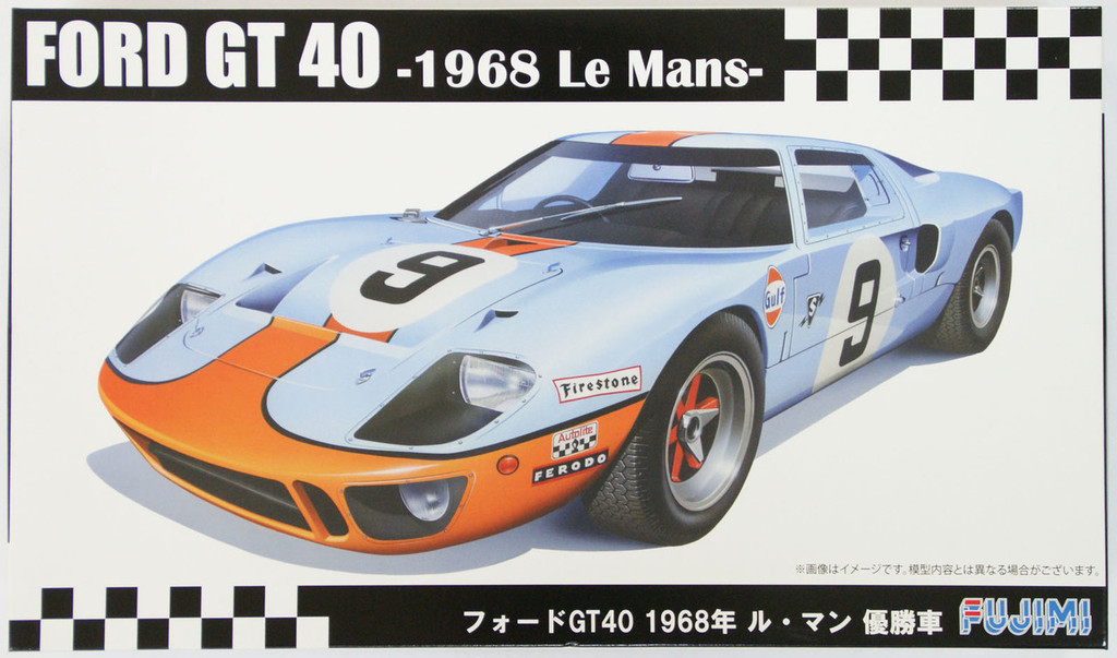 Fujimi RS-97 Ford GT40 1968 Le Mans 1/24 Scale Kit