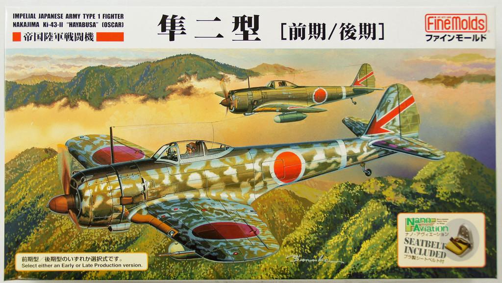 Fine Molds FB17 Imperial Japanese Army Type 1 Fighter Nakajima Ki-43-II Hayabusa (Oscar) 1/48 Scale Kit