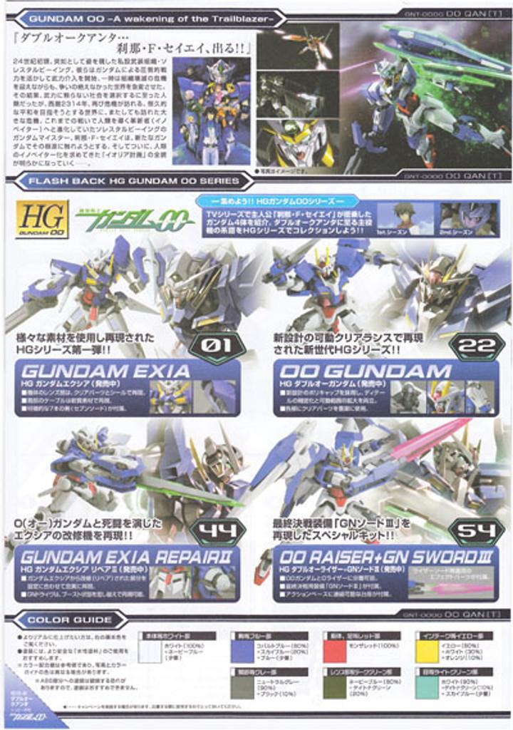 Bandai HG OO 66 Gundam GNT-0000 OOQ QUANT 1/144 Scale Kit