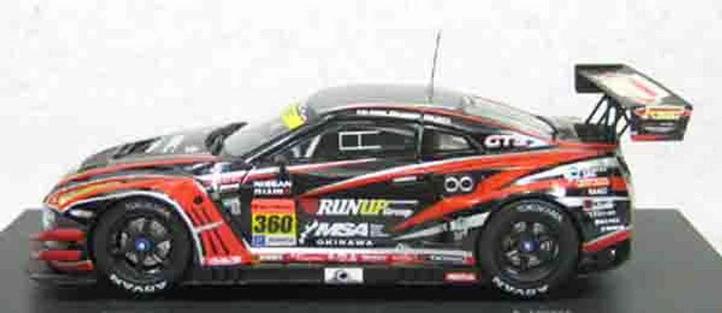 Ebbro 45086 OKINAWA IMP-RUN UP GT-R SUPER GT300 2014 No.360 Black 1/43 Scale