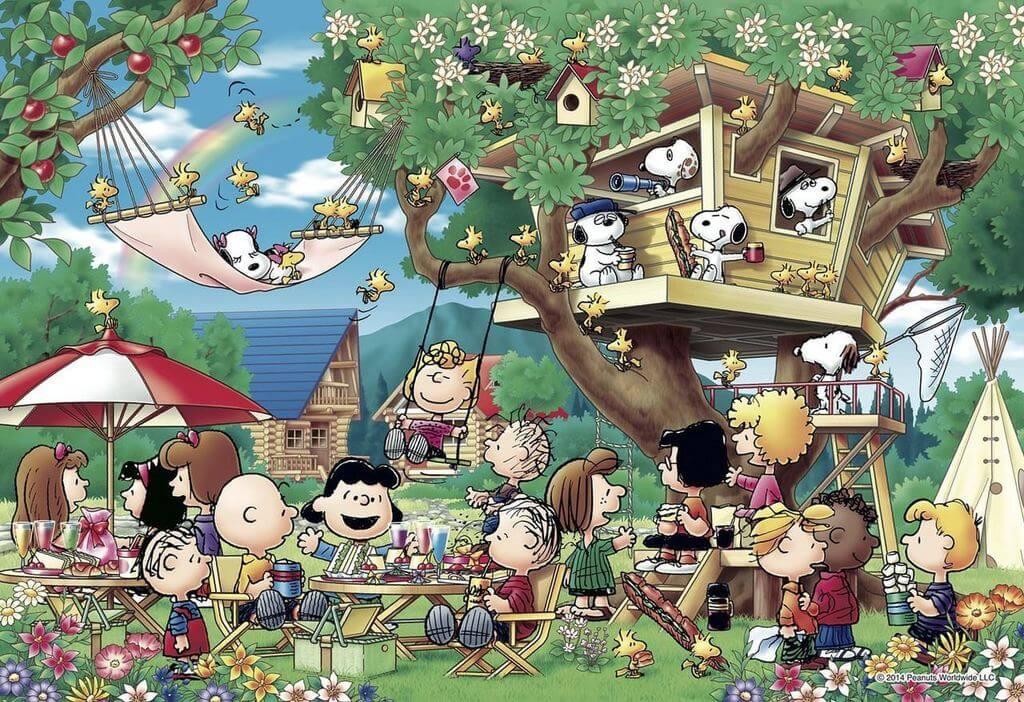 Apollo-sha Jigsaw Puzzle 48-747 Peanuts Snoopy Tree House (300 Pieces)