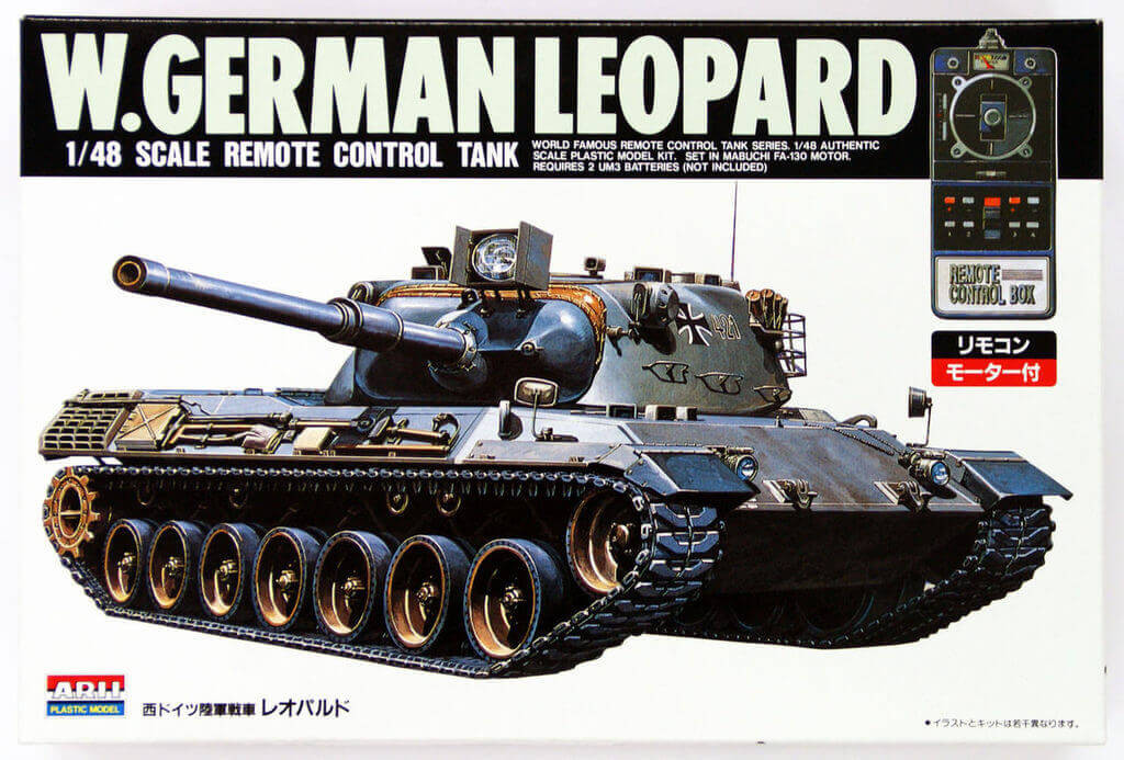 Arii 241028 W.German Leopard Remote Control Tank 1/48 Scale Kit (Microace)