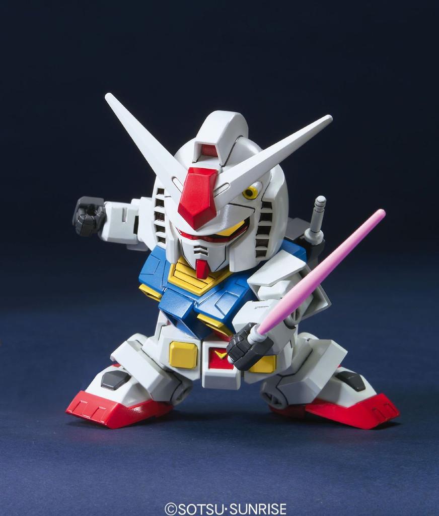 Bandai SD BB 329 Gundam RX-78-2 Gundam (Animation Color) Plastic Model Kit