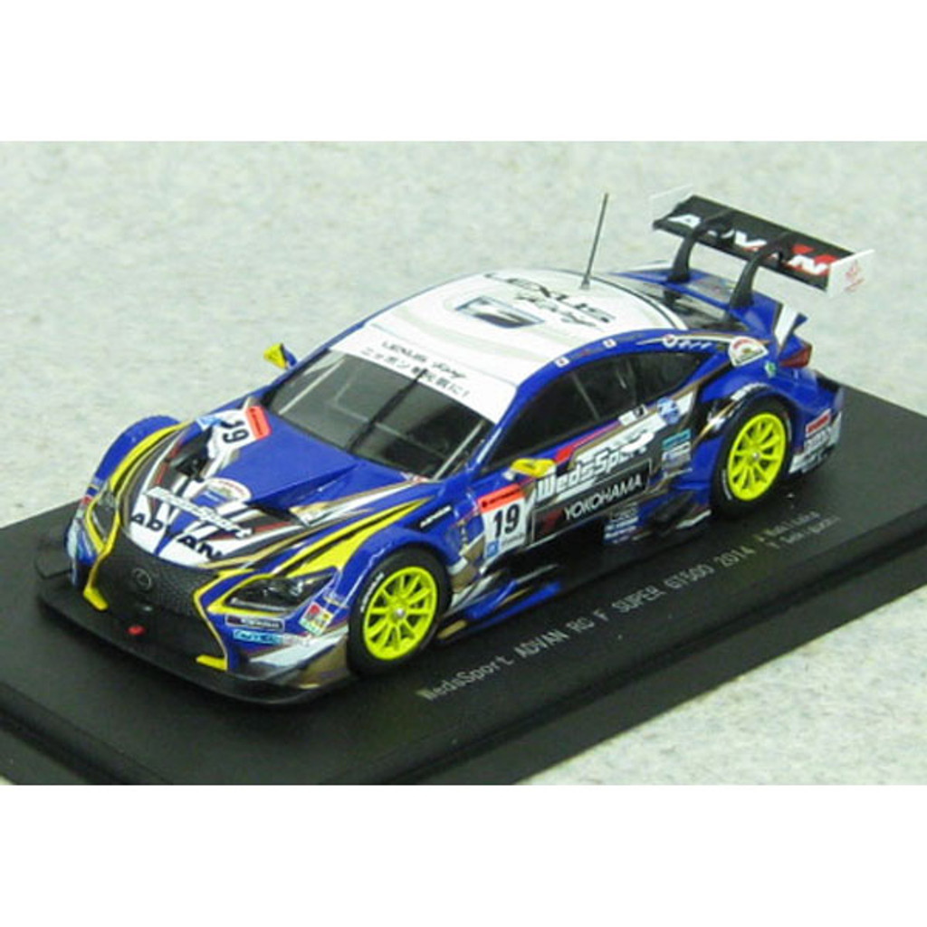 Ebbro 45069 WedsSport ADVAN RC F SGT 500 2014 No.19 Blue 1/43 Scale