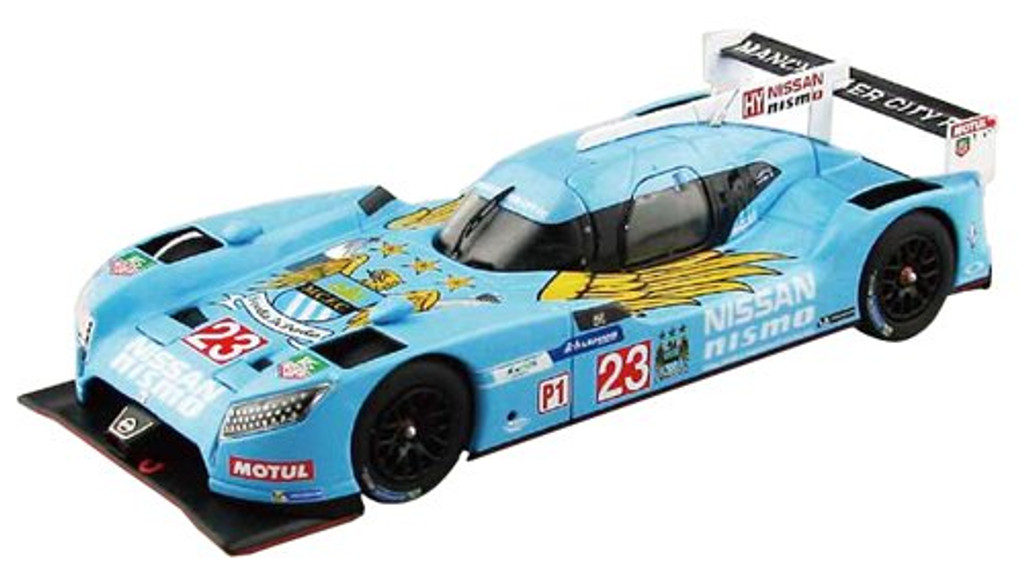 Ebbro 45251 NISSAN GT-R LM NISMO 2015 Manchester City FC Blue 1/43 Scale