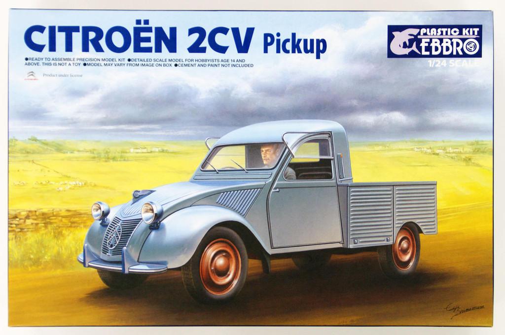 Ebbro 25004 Citroen 2CV Pickup 1/24 Scale plastic model Kit