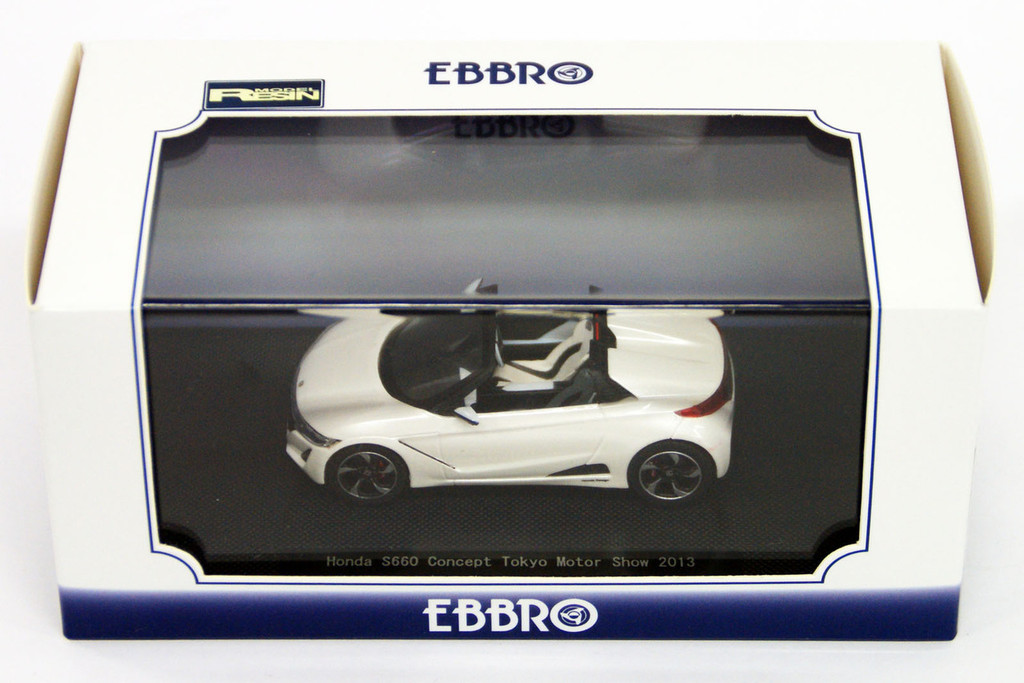 Ebbro 45231 HONDA S660 Tokyo Motor Show 2013 Pearl White 1/43 Scale