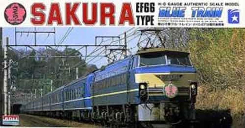 Arii 708026 HO Series EF66TYPE Blue Train Sakura 1/80 Scale Kit