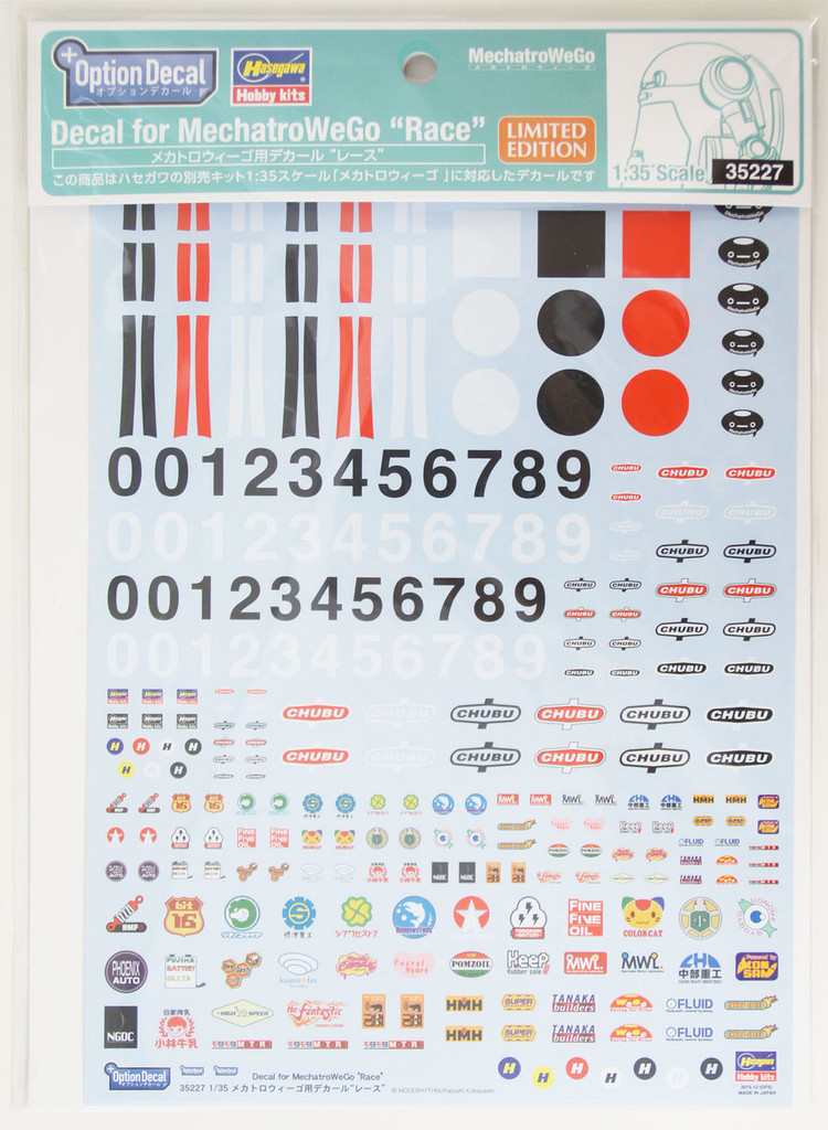 Hasegawa 35227 Option Decal Sheet for MechatroWeGo 1/35 Scale