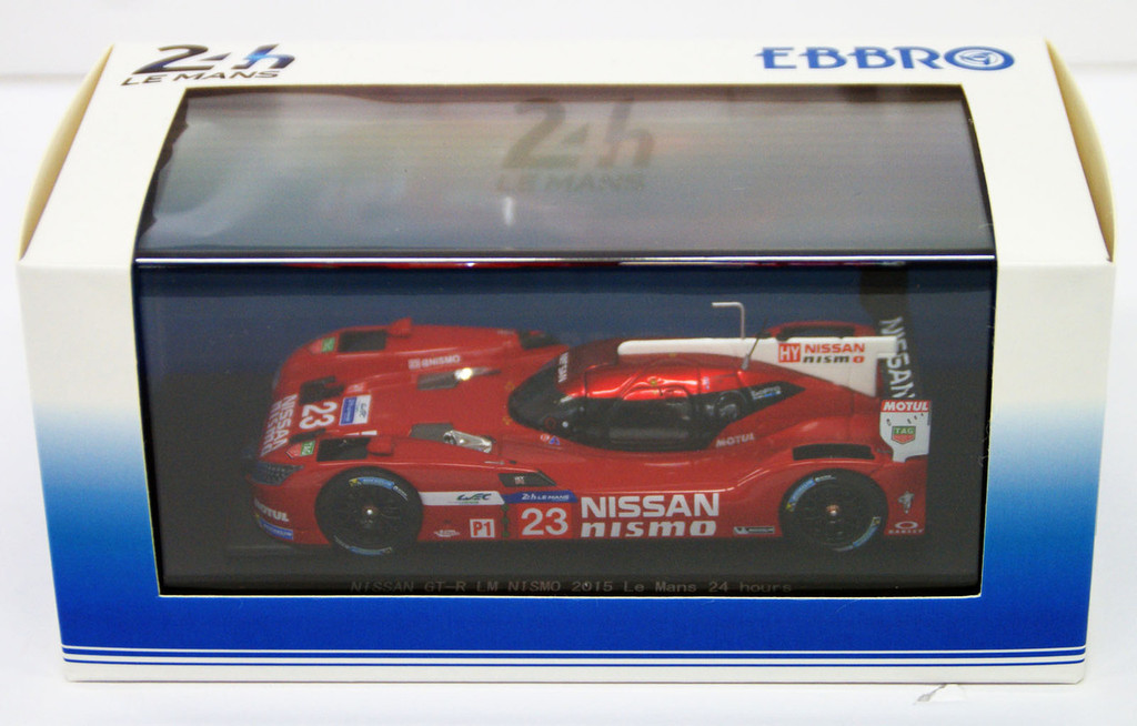 Ebbro 45256 NISSAN GT-R LM NISMO 2015 Le Mans 24 hours No.23 Red 1/43 Scale