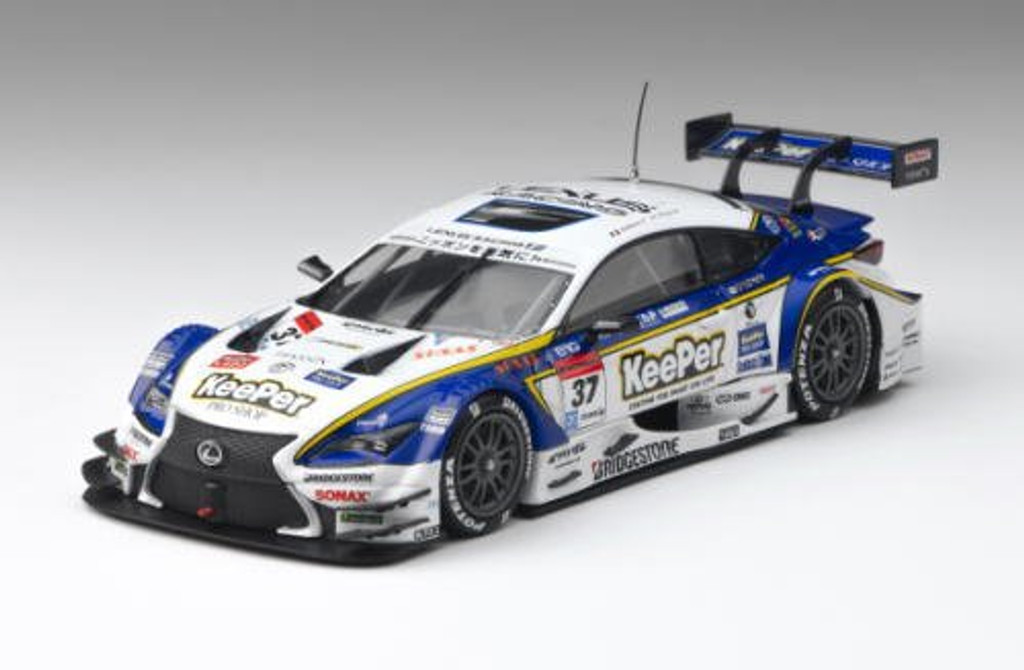 Ebbro 45265 KeePer TOMS RC F Okayama 2015 No.37 White Blue 1/43 Scale